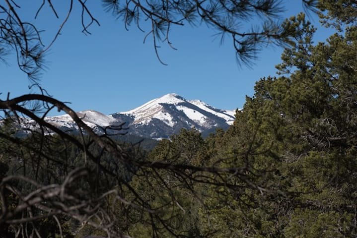 View of Sierra Blanca from the deck!