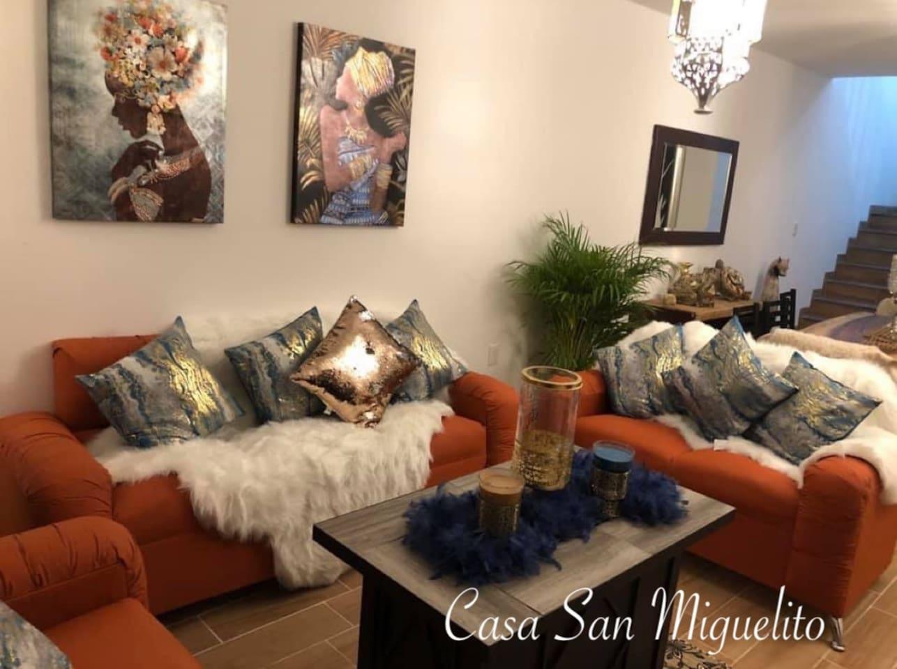 Acogedora Sala ideal para una bella reunión familiar