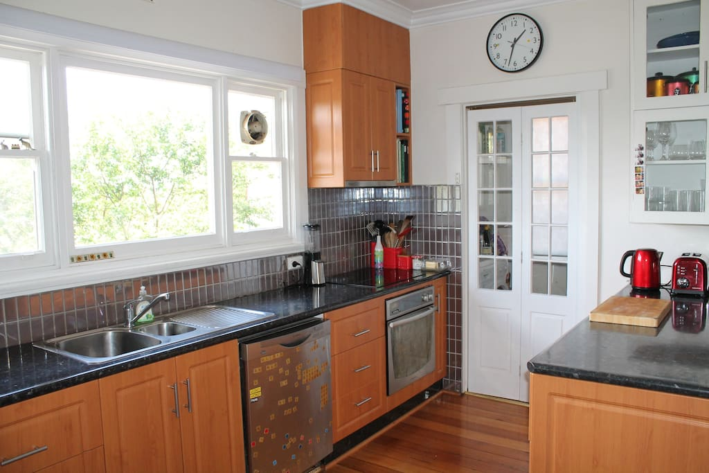 Compact kitchen with views to wash up to.