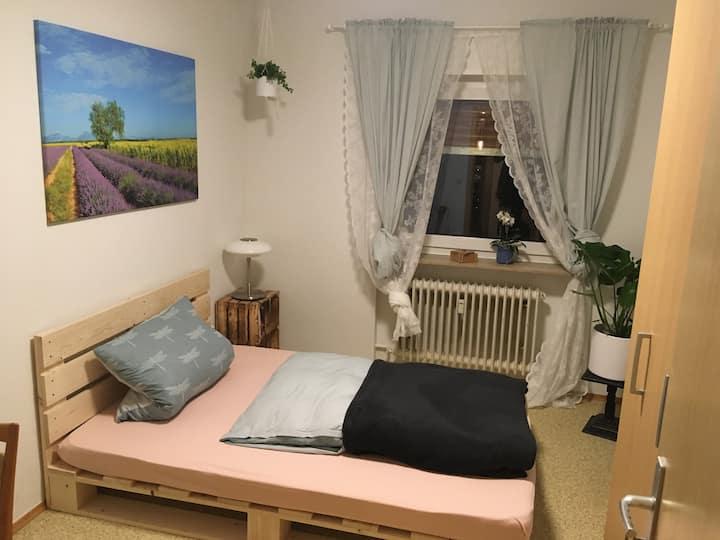 Ruhiges, helles Zimmer in der Nähe von Heidelberg