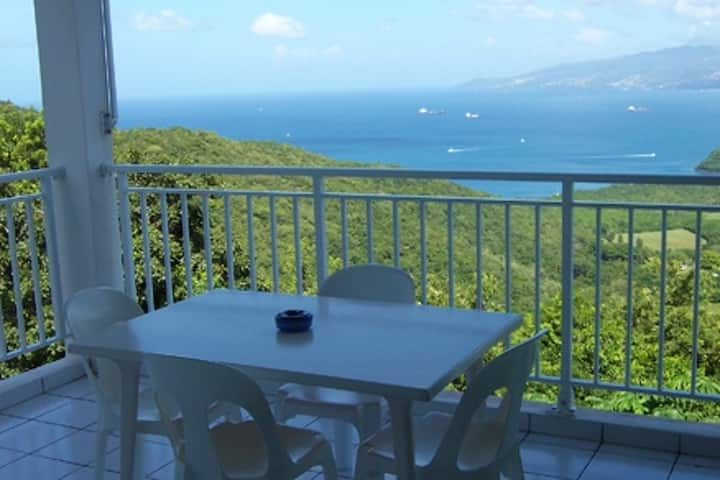 Studio in Anse D'Arlet, with furnished balcony and WiFi - 4 km from the beach