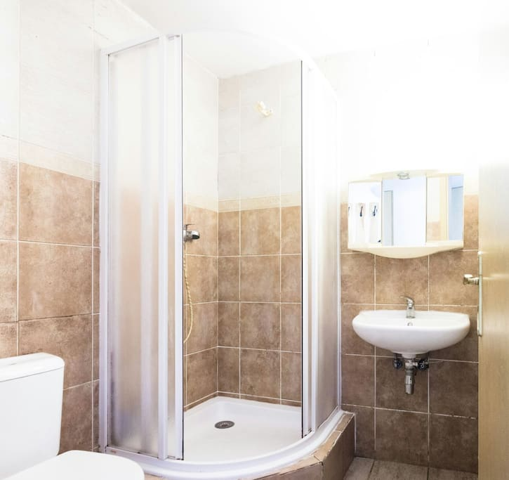 Shared shower room in main house - about 5 meters from your room.
