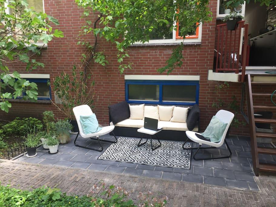 Back door & garden