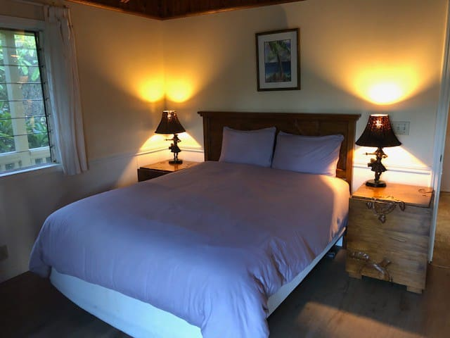 Fourth Bedroom with Queen Bed and Teak Furnishings