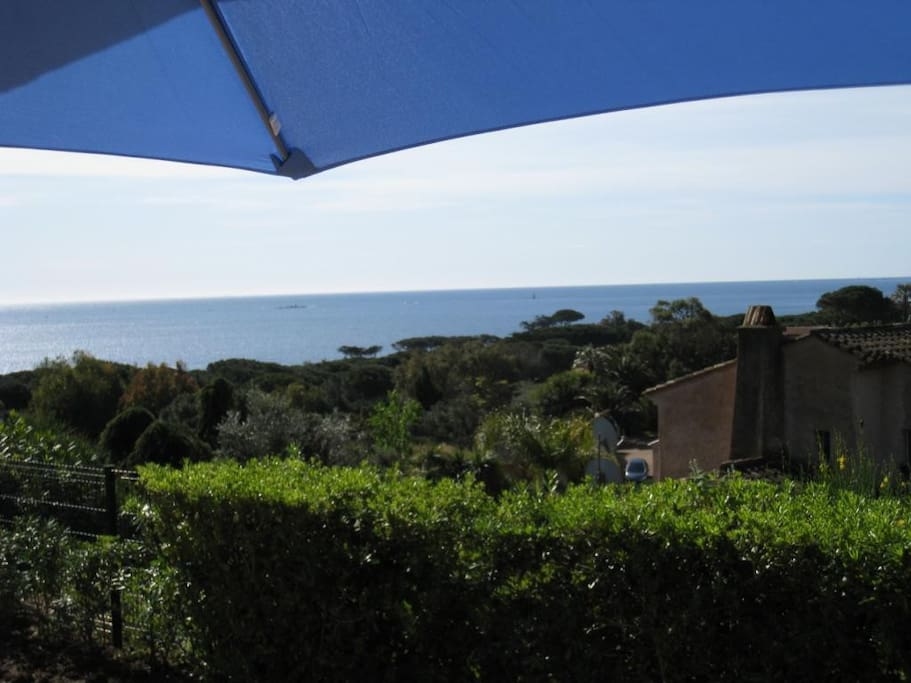 Magnifique vue mer de la terrasse