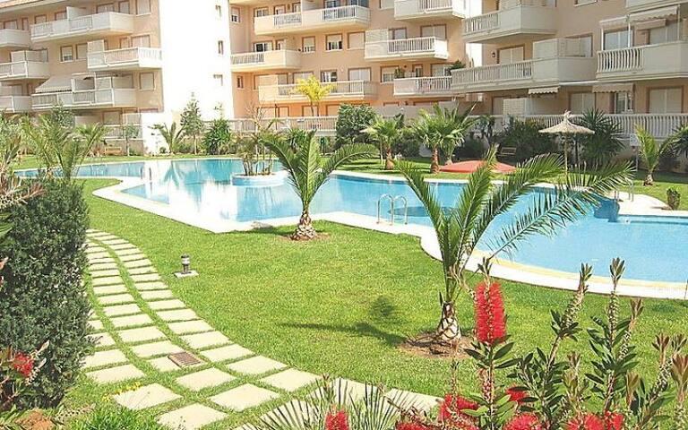 Apartamento con piscina al lado de la playa - Platja de l'Arenal - Apartemen