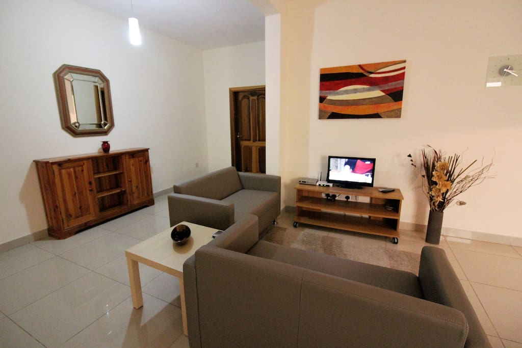 TV area with 2 double sofas