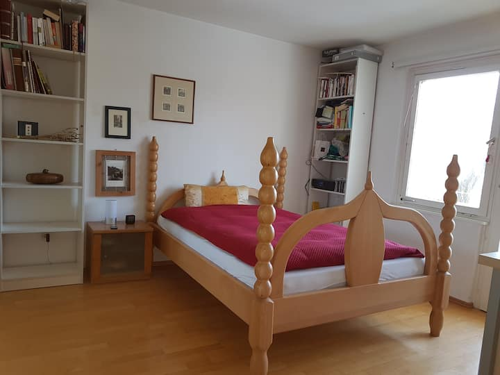 bright room+balcony; 250m to Univ. Campus