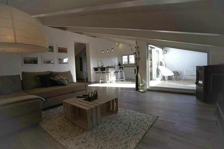 Modern open space loft