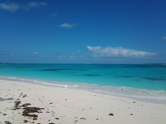 Just a 3 minute walk away from the Exuma Pearl cottage