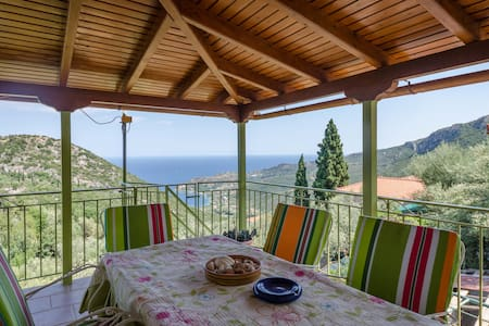 Private House in Melana Overlooking Sea