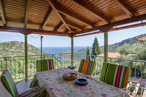 俯瞰大海的梅拉纳私人住宅