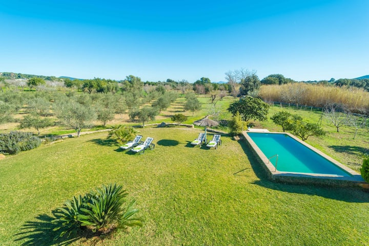 SES ROTGES - Villa with private pool in SELVA. Free WiFi