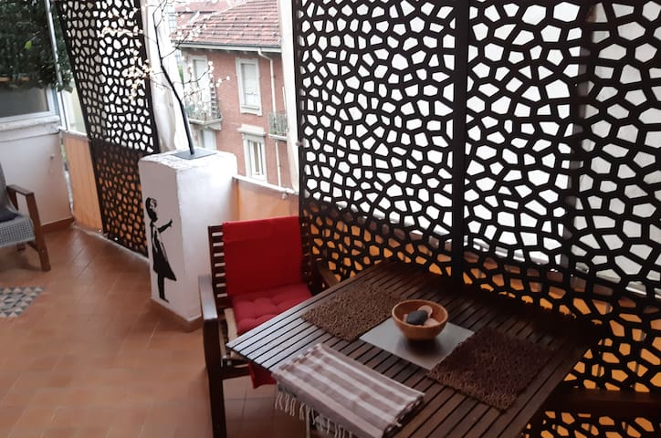 Terrace apartment Turin /Terrasse