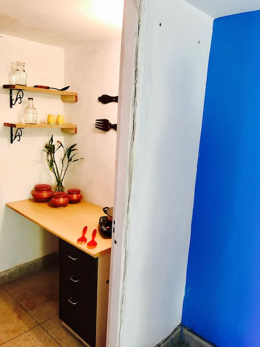 an attached KITCHEN in the BLUE ROOM