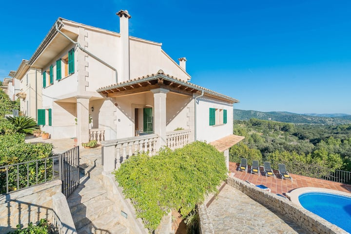 BELLA VISTA Haus for 6 with pool in Campanet