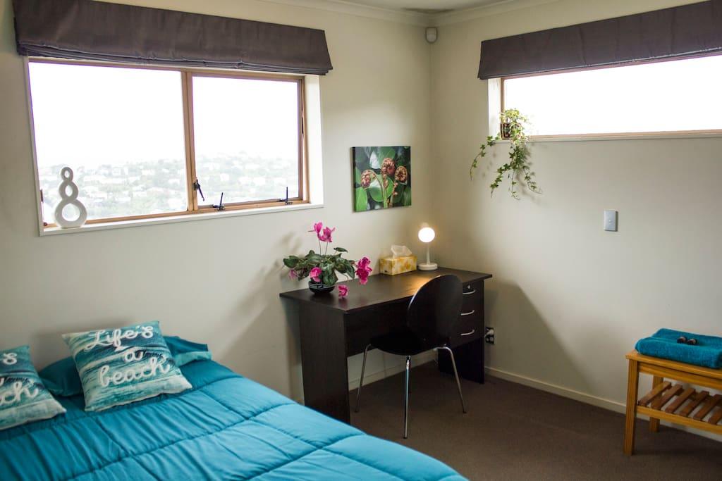 Bedroom desk space