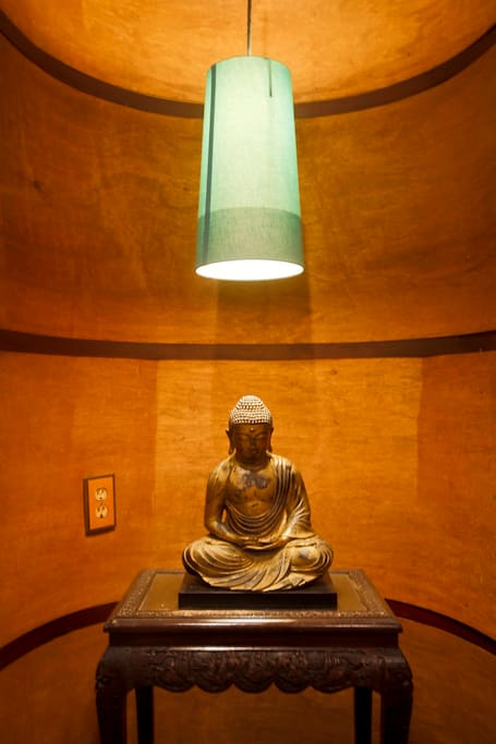 Meditative alcove in the living room.