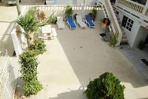 lounge chair sun terrace