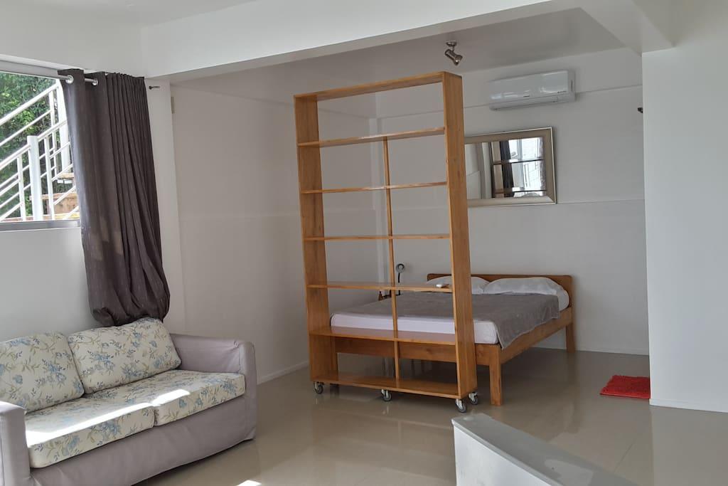 living and sleeping room 50m2