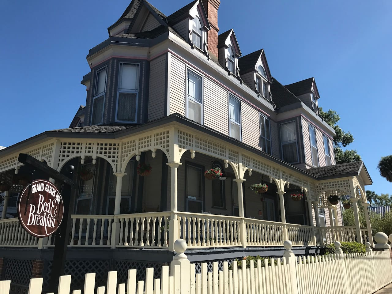 The Magnificent Grand Gables Inn, Bed & Breakfast. View from corner of Emmett and Dodge.