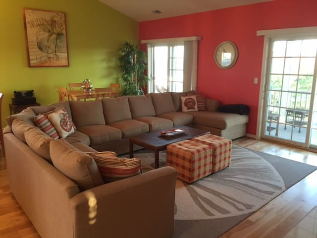 Main Family room opens to front and rear Ocean view decks!!