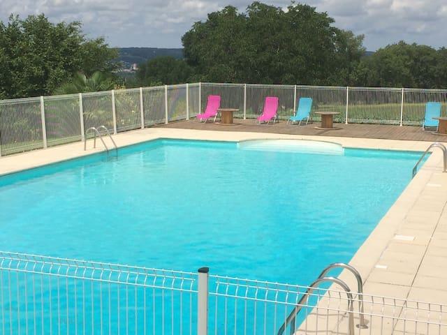 Gîte de charme les Pinsons avec piscine au calme