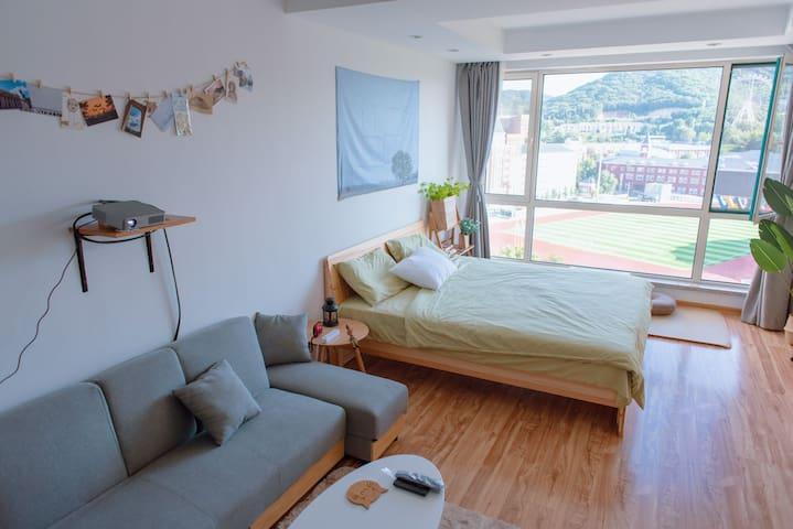 【latte's room】拿铁小屋❤青泥洼桥的简洁清新独立公寓,近商圈地铁站火车站