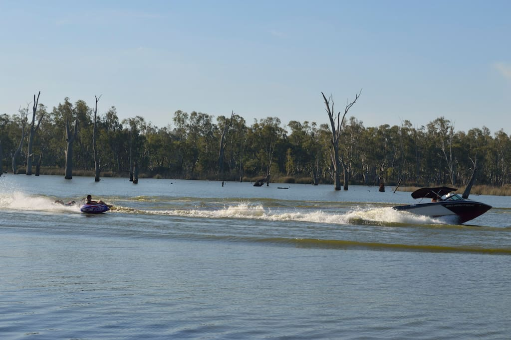 Great lagoon area to ski and play