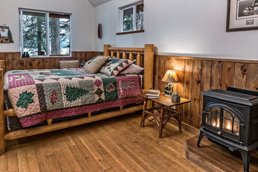 Relax in rustic accommodations.