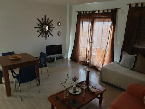 Acogedora habitación doble en un espacio especial