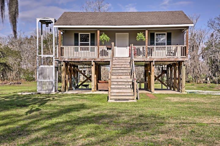 New! 1BR 'Cajun Cottage' on Bayou Dularge w/ Dock!
