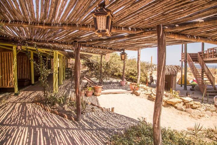 Habitación Rustica Playa - Piramides satchitánanda