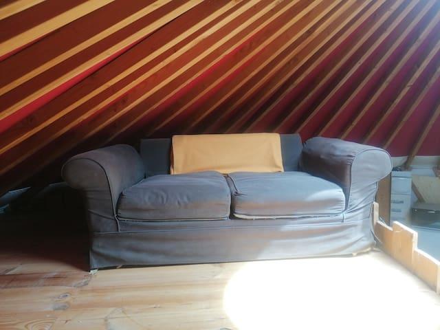 Canapé lit à l'étage