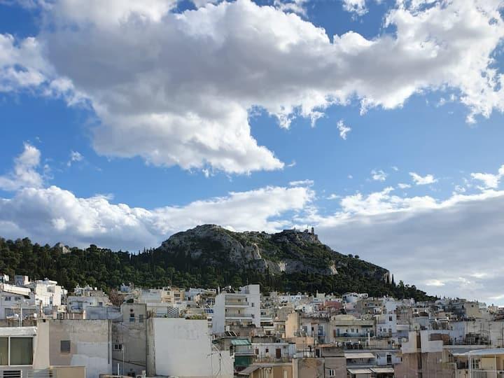 Alex's Modern Penthouse Athens view