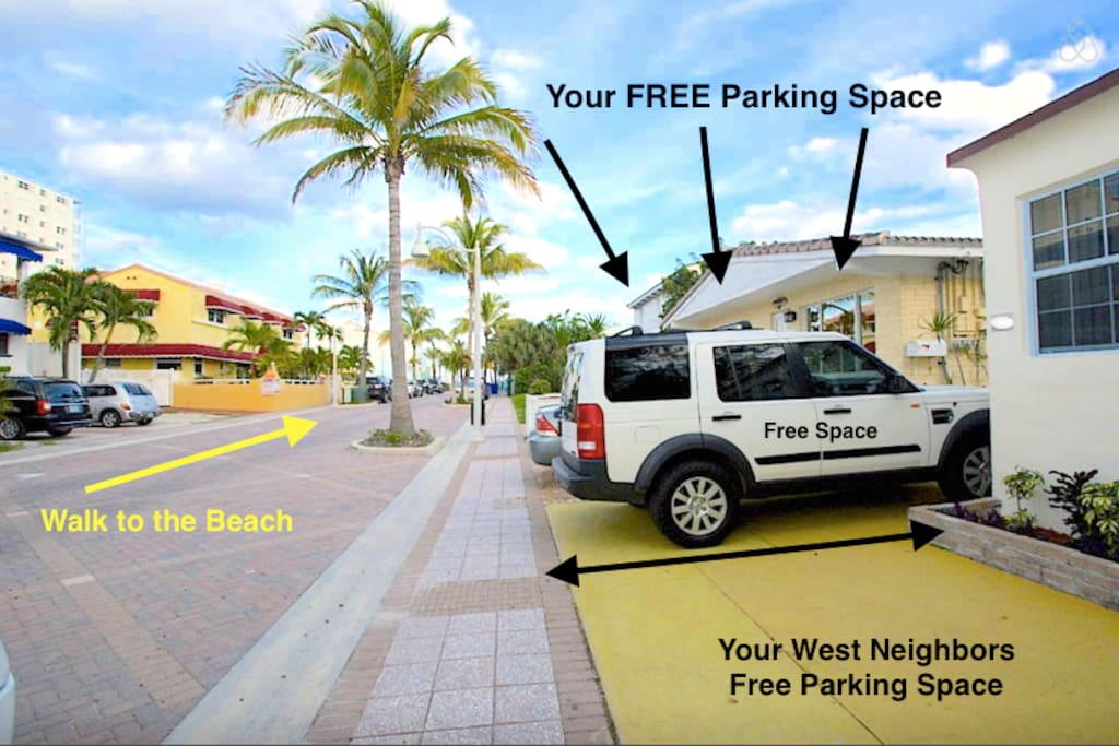 Your FREE parking space on the yellow pad