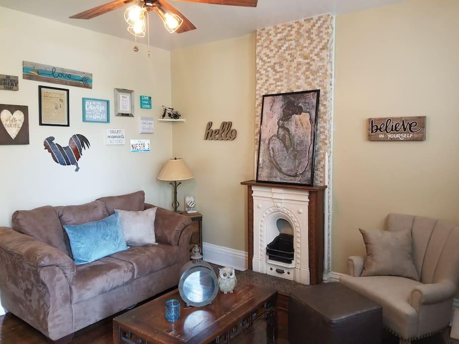 comfortable inviting living area