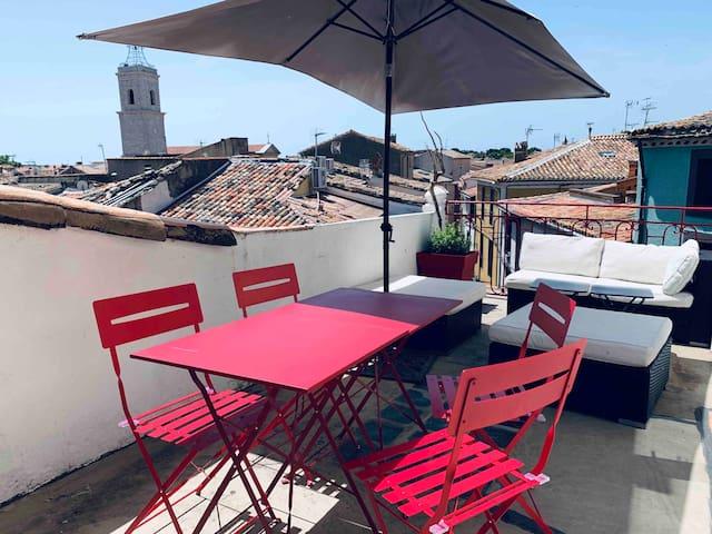 Marseillan appartement terrasse : le sud typique