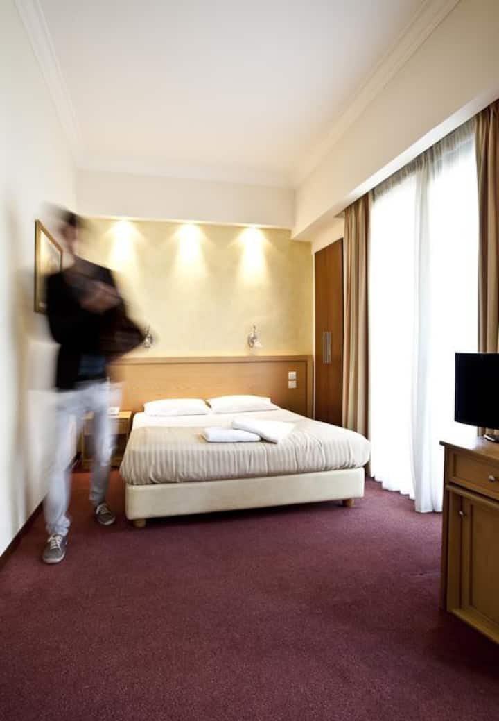 Family Hotel Room with Balcony in Athens