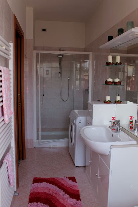 Private bathroom upstairs (with shower and washing machine)