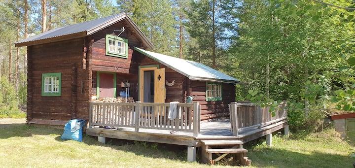 Mysig stuga i Delsbo nära Dellen.