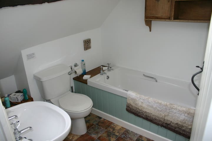 Penroc bathroom, now with shower attachment on the taps for hair washing!