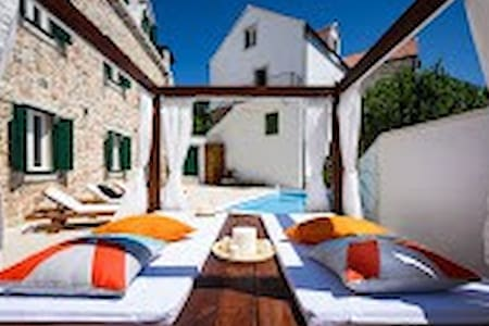 Lux. Villa Rustica with pool DH1BR - Donji Humac - Vila
