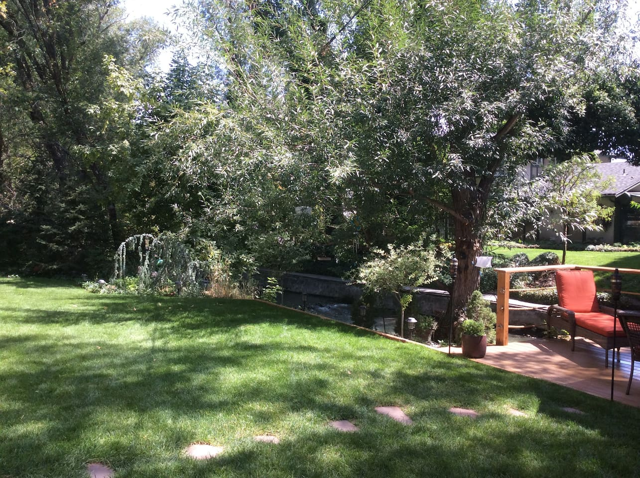 The property is so relaxing - anytime of the year.  Secluded with a rare chance to be on Big Cottonwood Creek - straight down from the Big Cottonwood Ski Area