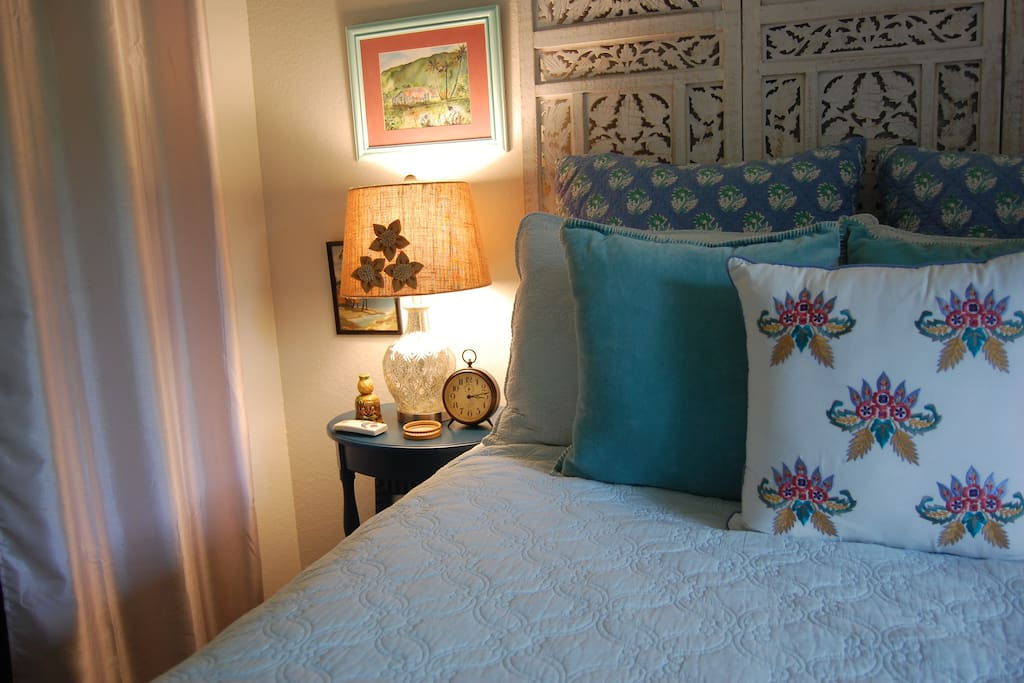 The room is a cozy place to return to at the end of a day exploring...