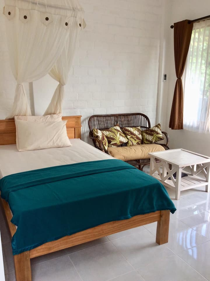 Simple Room with AC in Penestanan Village
