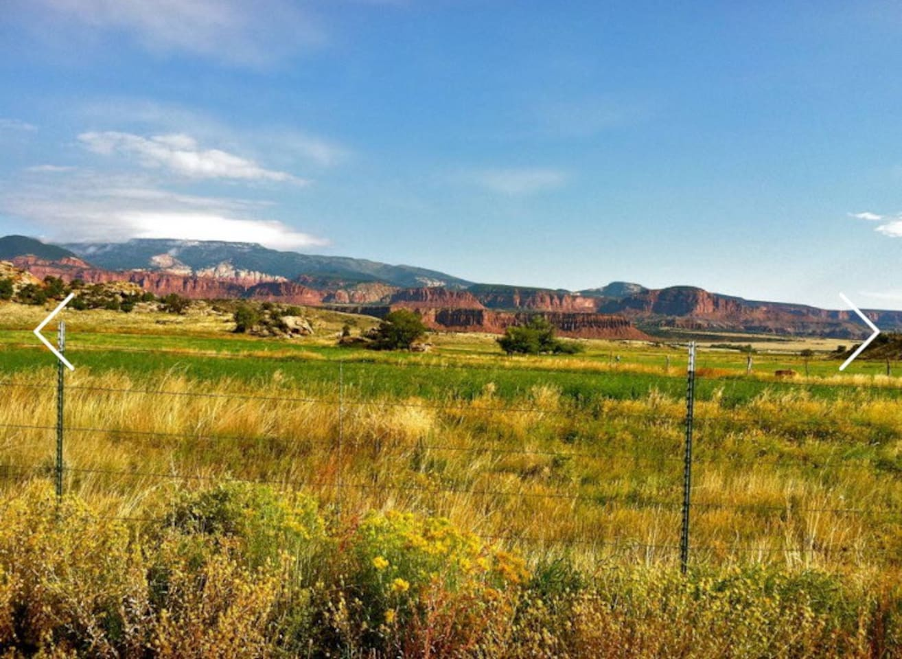 Enjoy this beautiful view while staying on a 100 acre working ranch in out 4 unit motel.