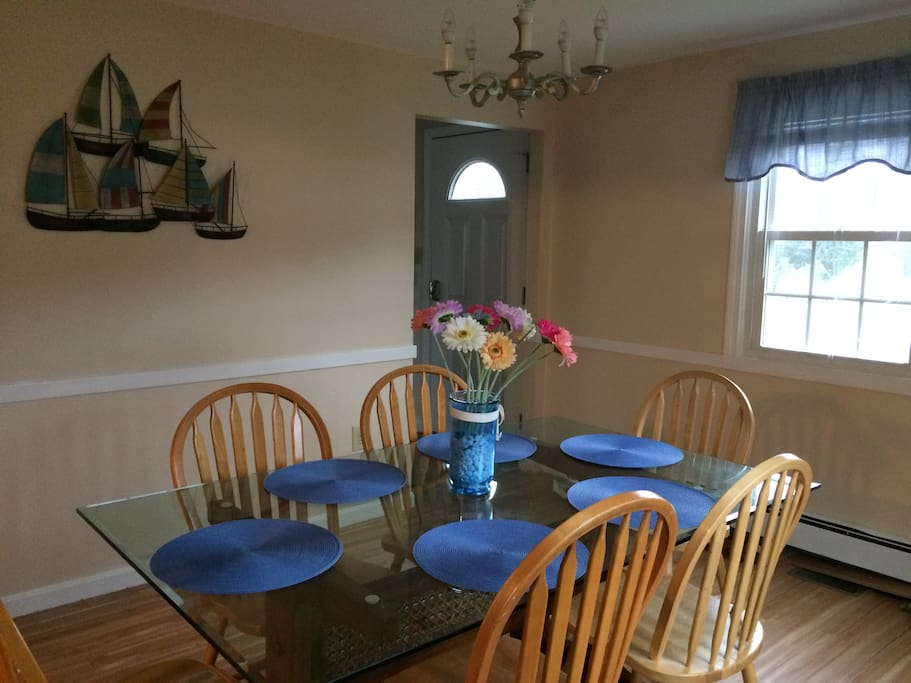 Spacious dining room for the whole family.