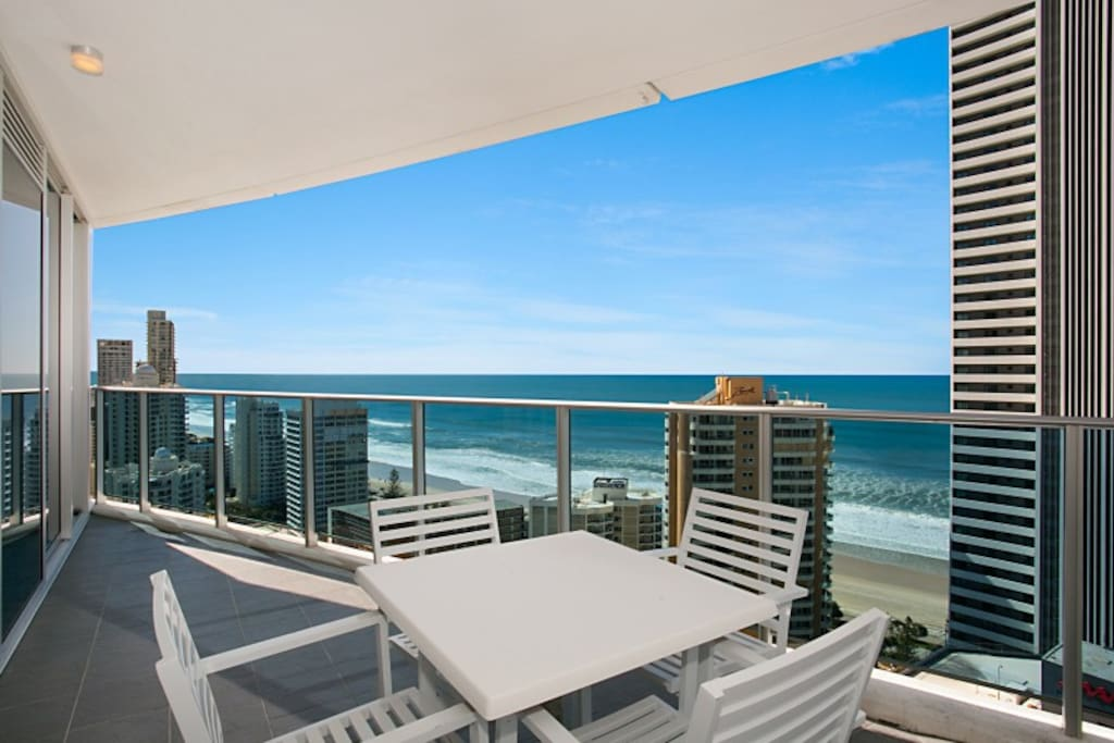 Direct ocean views from all bedrooms, lounge room and sunny morning balcony