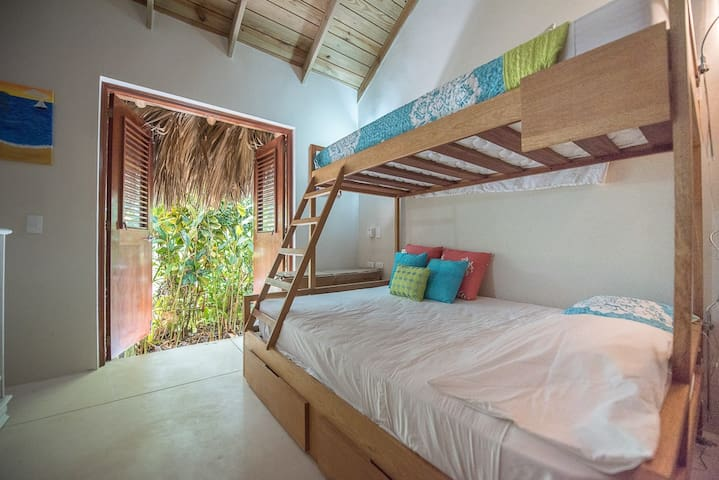 Third bedroom: double bed with twin bunk bed for up to 3 guests